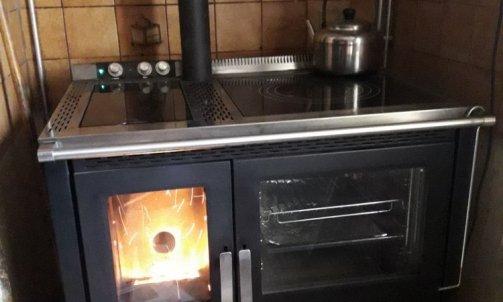Cuisinière granules -plombier chauffagiste Giat
